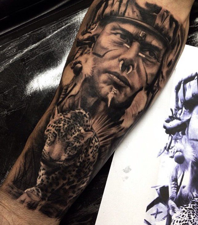 Aztec Tattoo by Chico Morbene