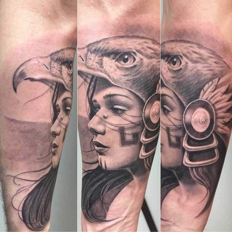 Aztec Tattoo by Chuy Espinoza-