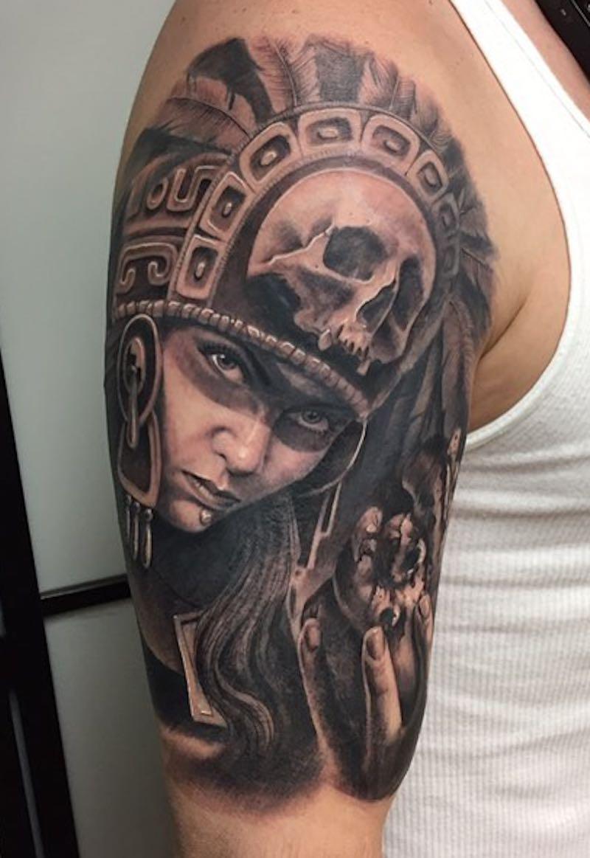 Aztec Tattoo by Chuy Espinoza
