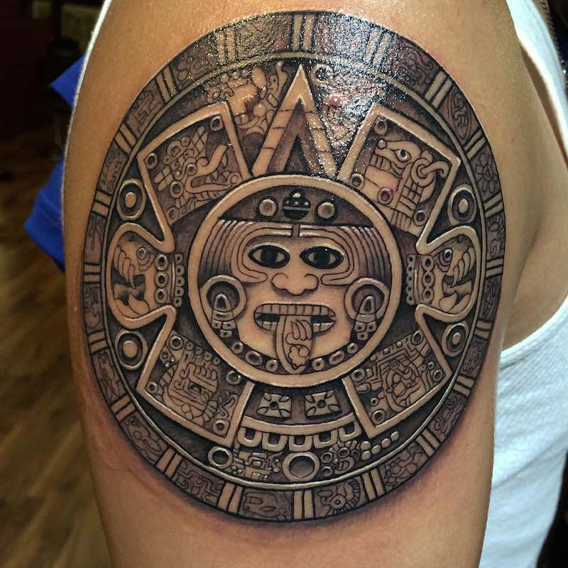 Aztec Tattoo by Fernando Felix