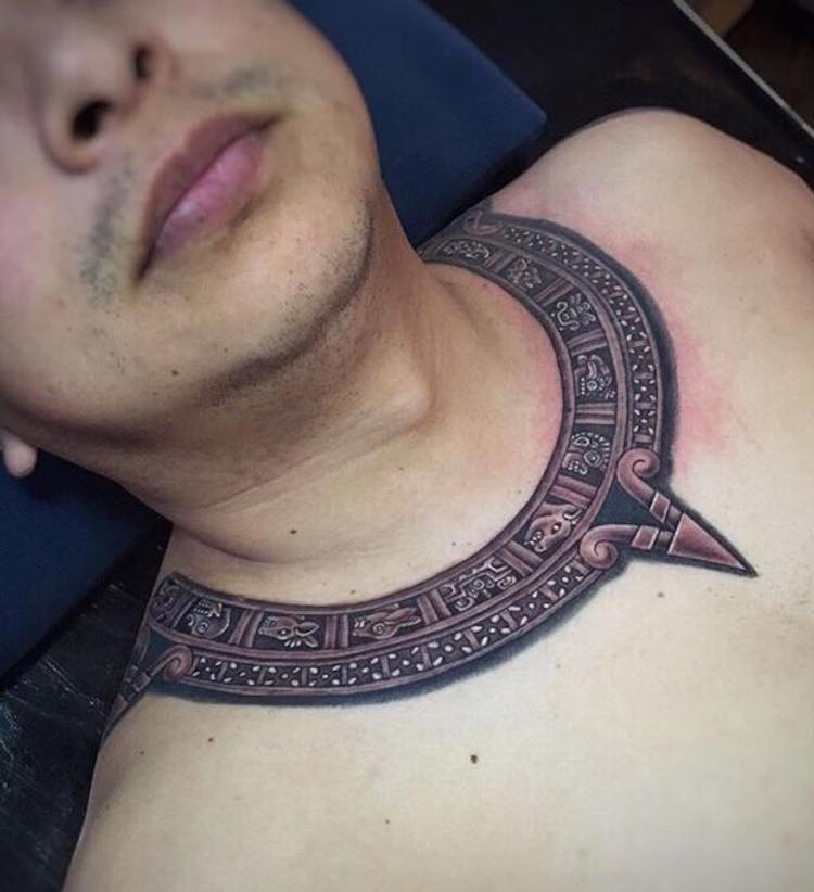 Aztec Tattoo by Goethe Collective