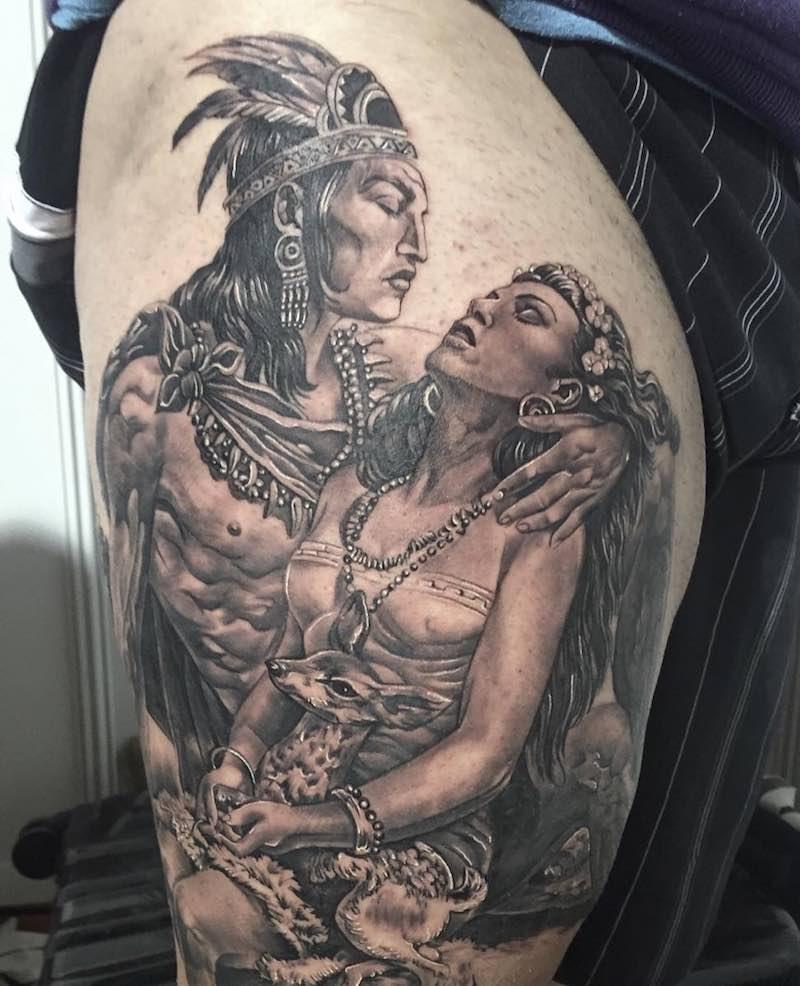 Aztec Tattoo by Jose Bandera