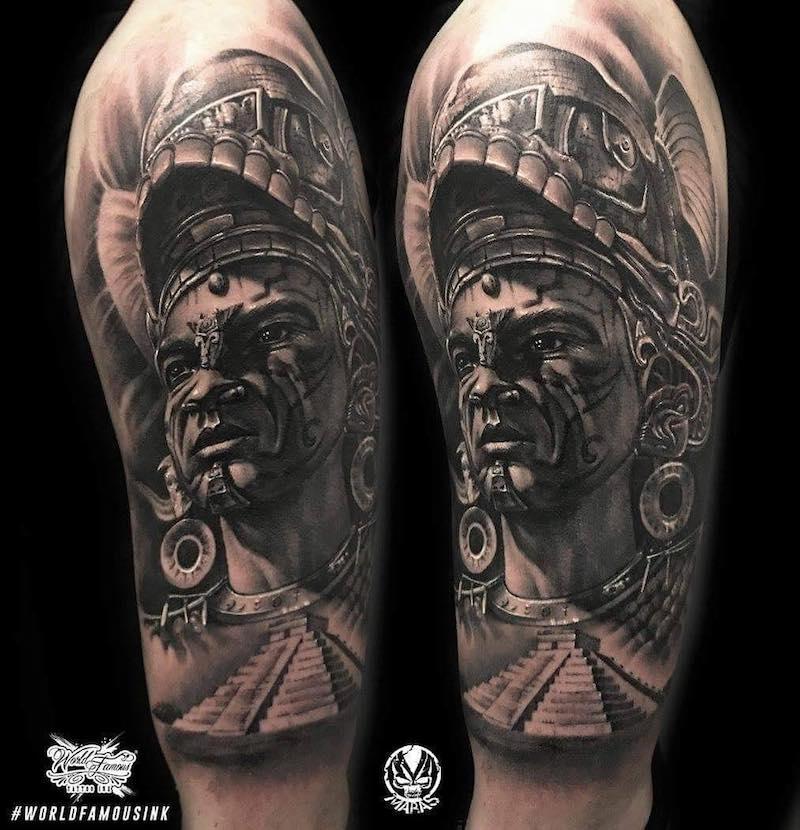 Aztec Tattoo by Marek Maras Rydzewski