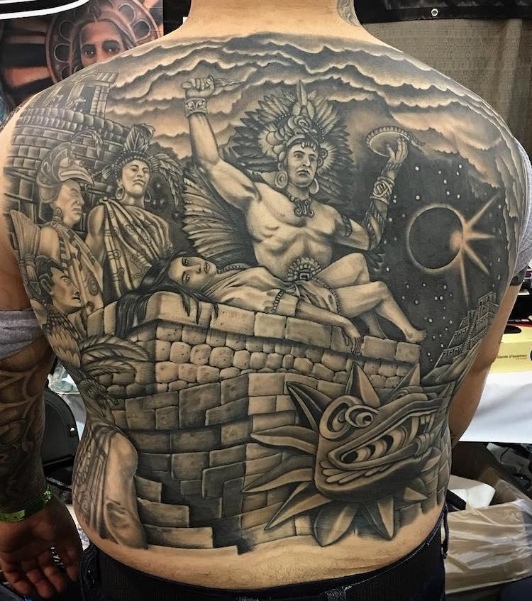 Aztec Tattoo by Rey lore Figueroa