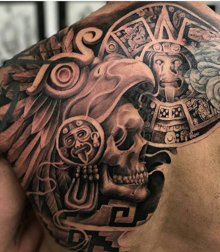 Aztec Tattoo by Rodrigo Molina