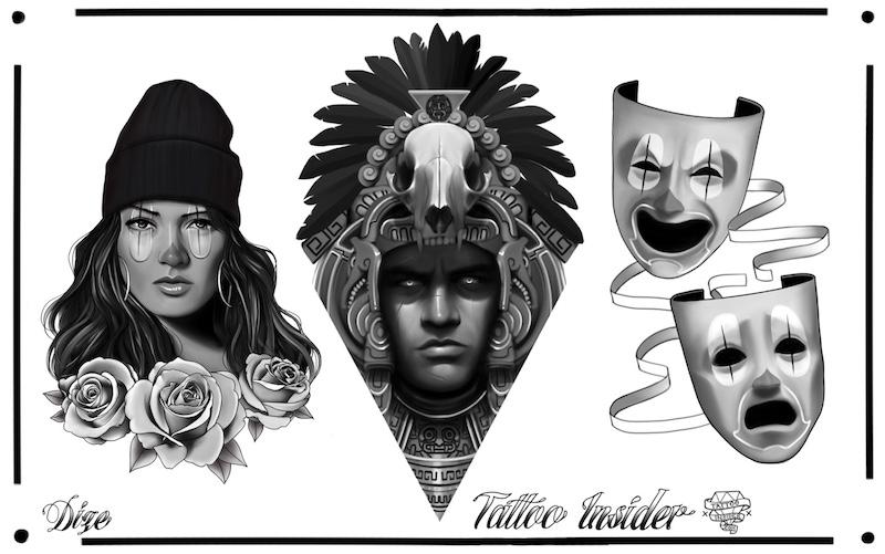 Chicano Tattoo Designs