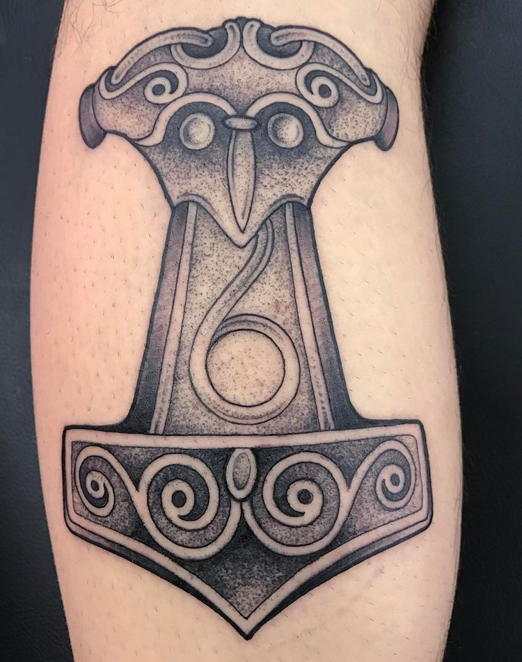 Thors Hammer Tattoo by Paulinho