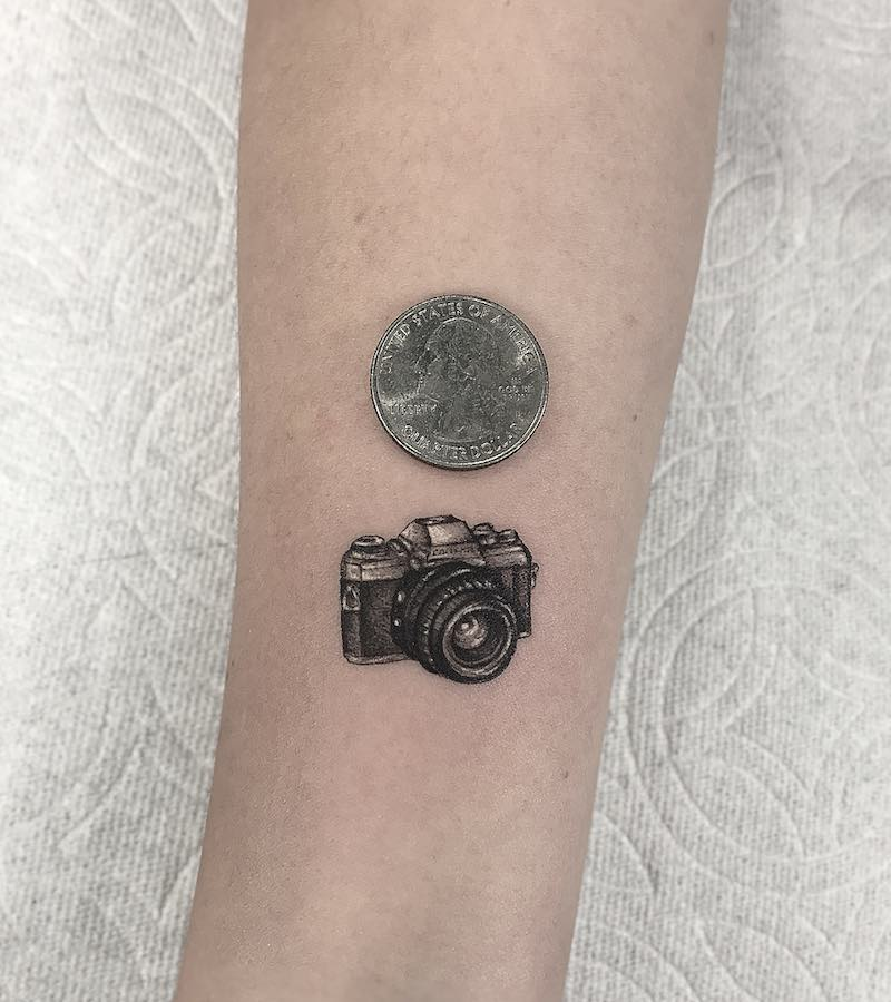 Camera Small Tattoo by Romeo Lacoste