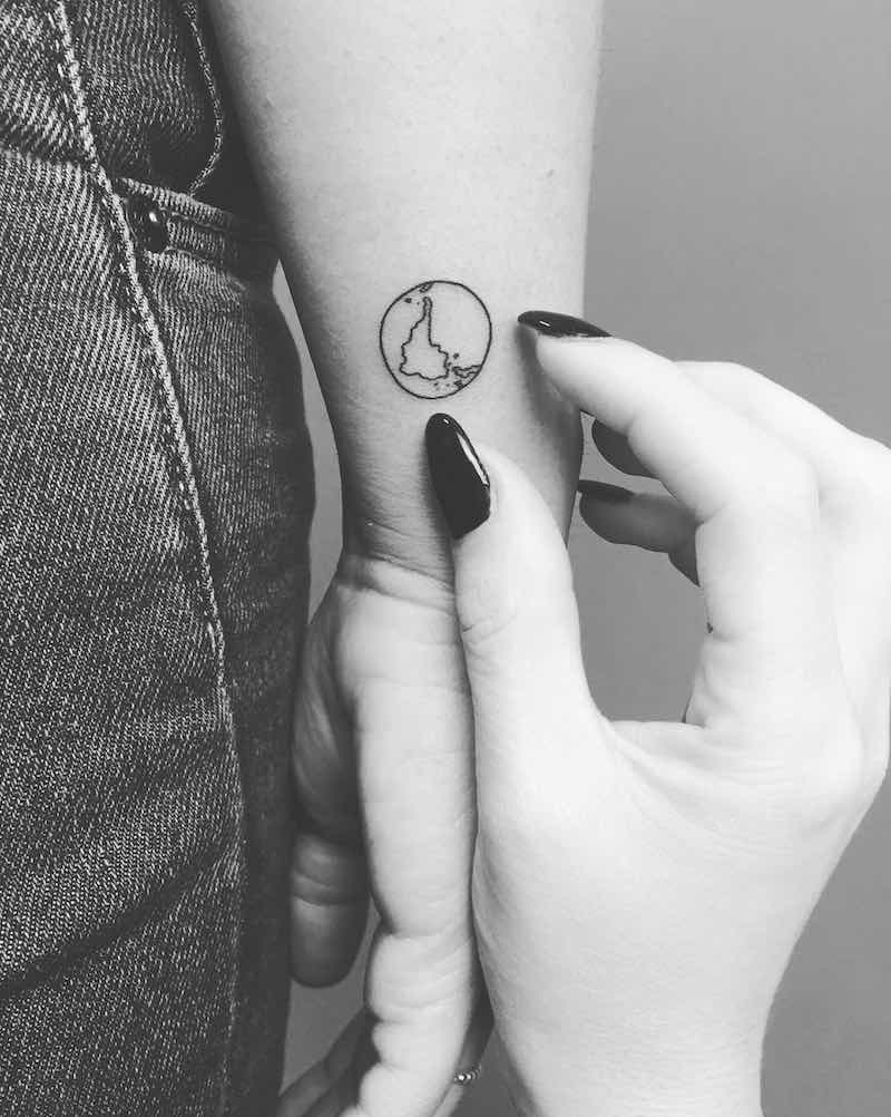 Earth Small Tattoo by Ferrarini Serena