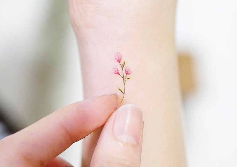 Flower Small Tattoo by Mini Lau