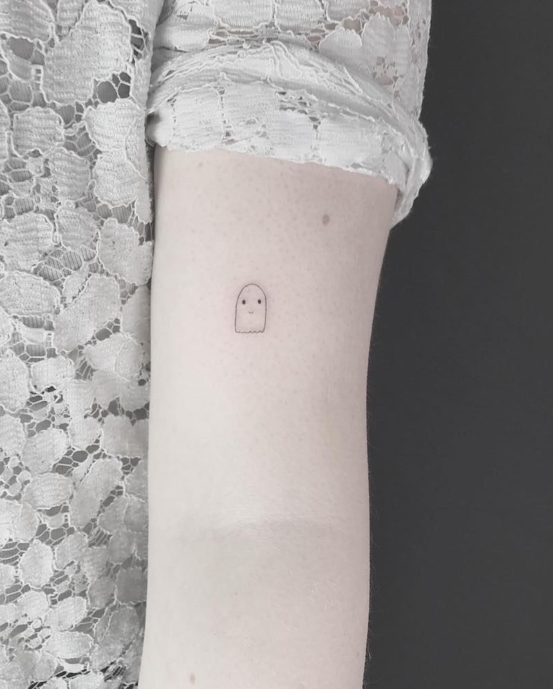 Ghost Small Tattoo by Joe Turner
