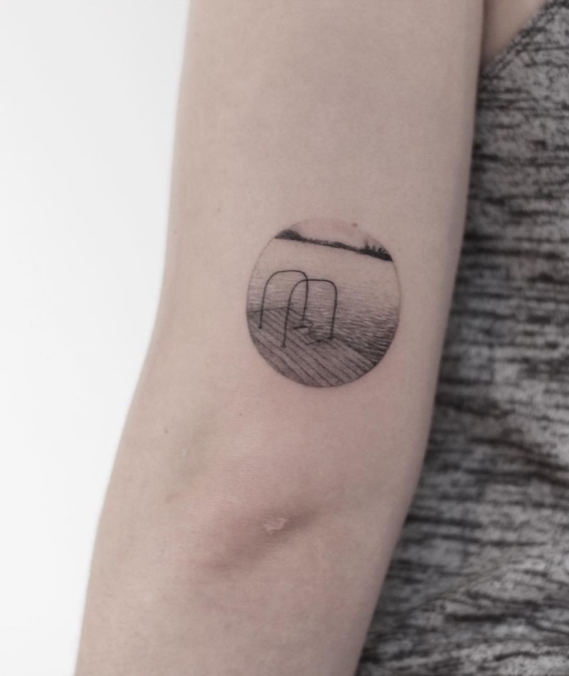 Lake Small Tattoo by Lindsay April