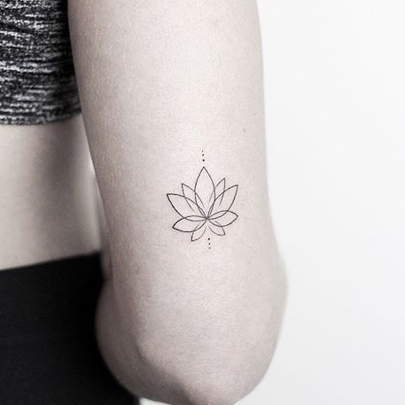 Lotus Small Tattoo by Rachael Ainsworth