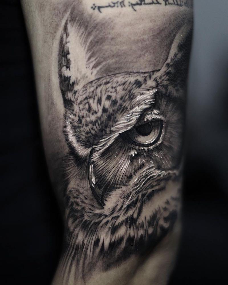 Owl Tattoo Stefano Alcantara