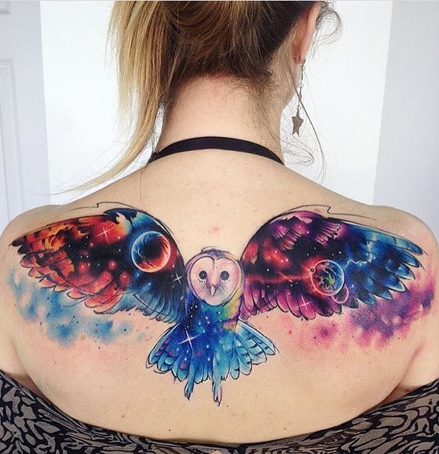 Owl Tattoo by Adrian Bascur