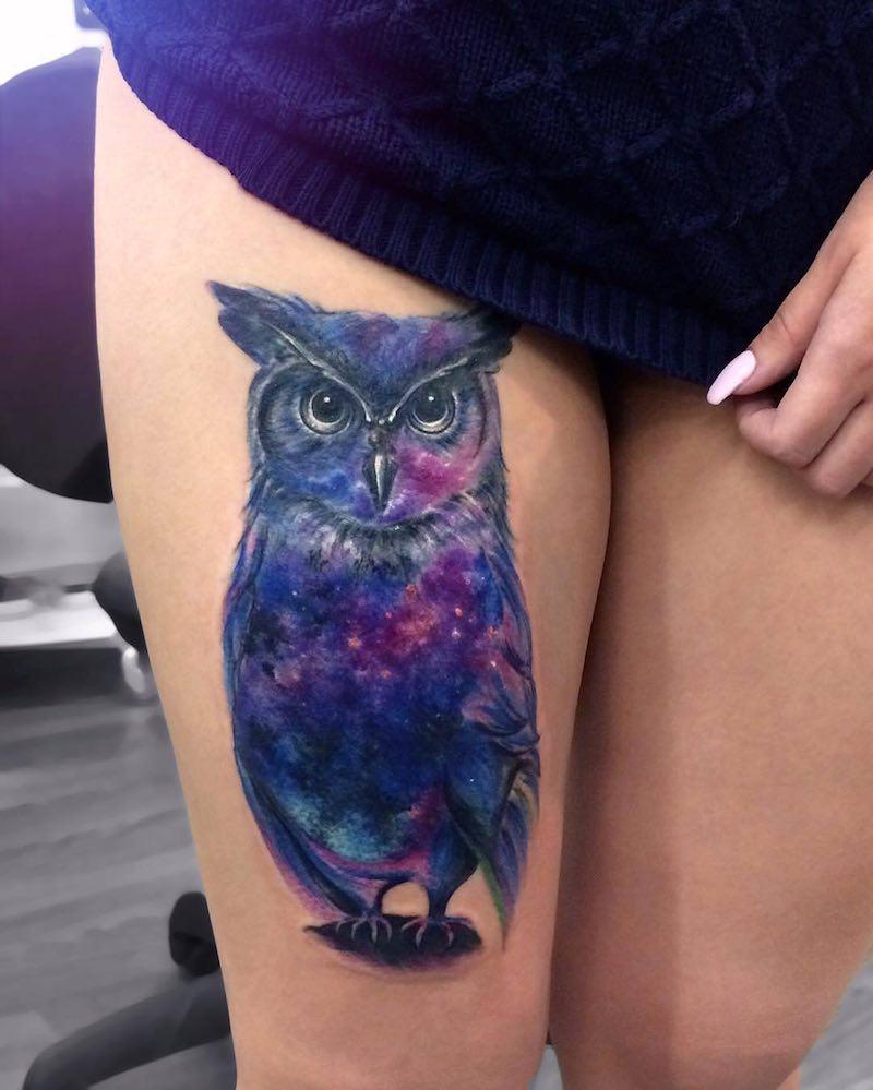 Owl Tattoo by Anna Yershova