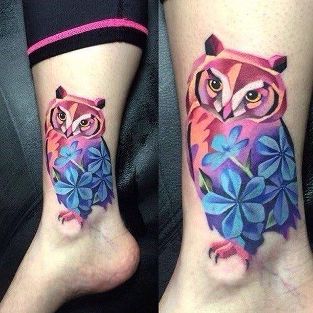 Owl Tattoo by Chase Tafoya