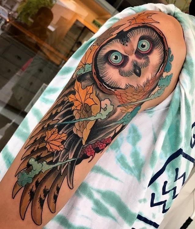 Owl Tattoo by Dyem
