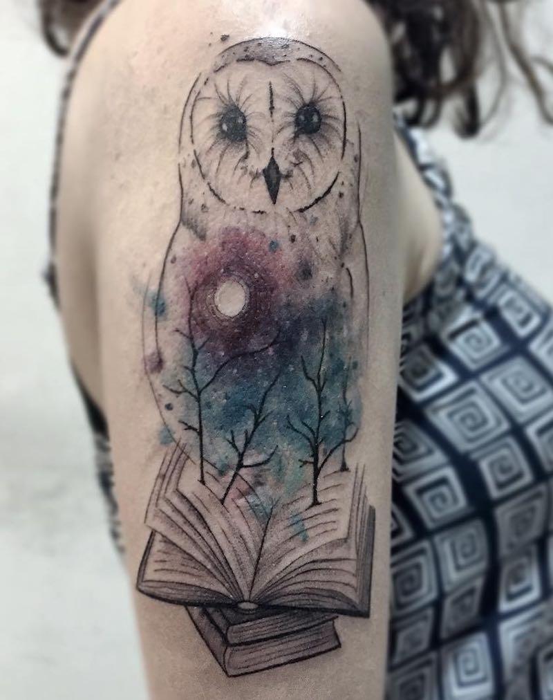 Owl Tattoo by Felipe Mello