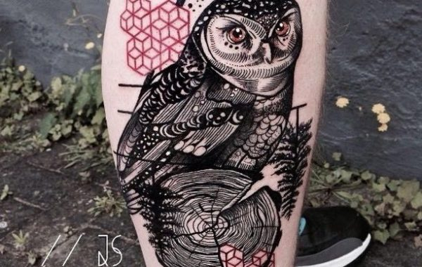 Owl Tattoo by Jessica Svartvit