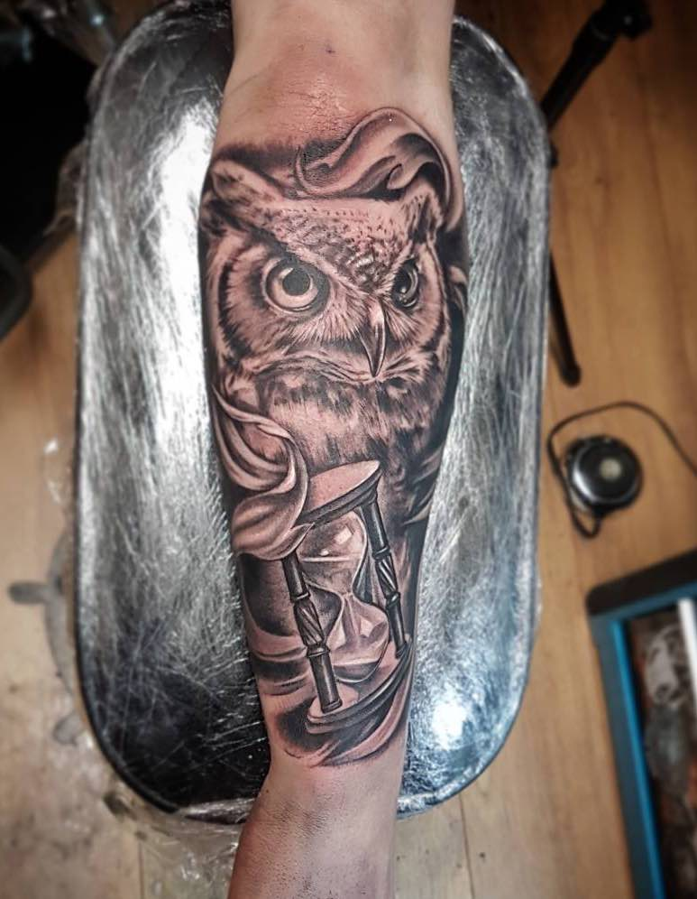 Owl Tattoo by Lauris Vinbergs