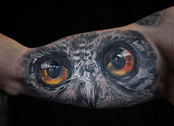 Owl Tattoo by Maris Pavlo