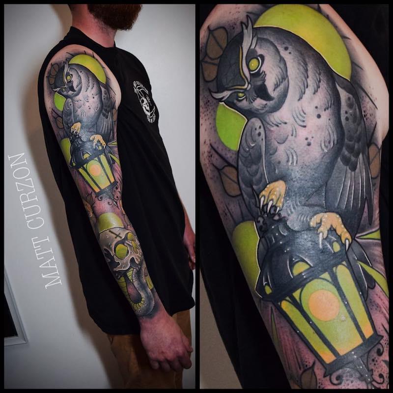 Owl Tattoo by Matt Curzon