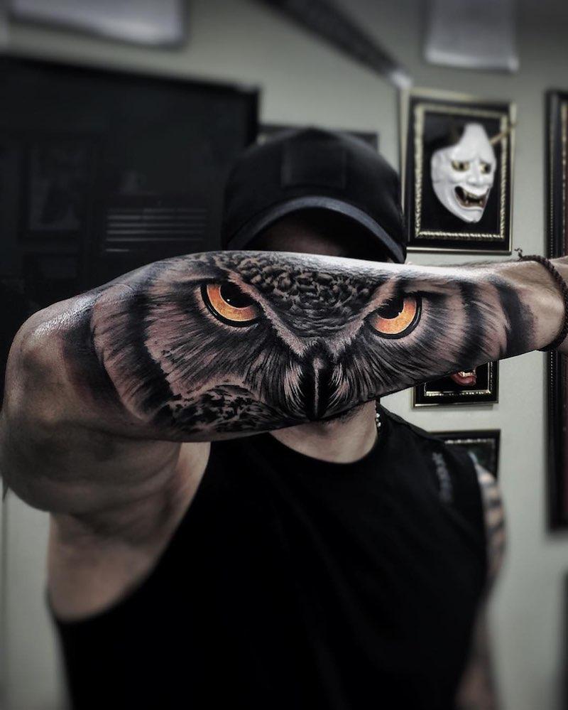 Owl Tattoo by Oskar