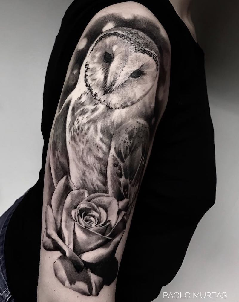 Owl Tattoo by Paolo Murtas