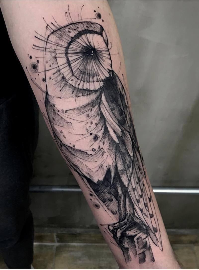 Owl Tattoo by Phetattooist