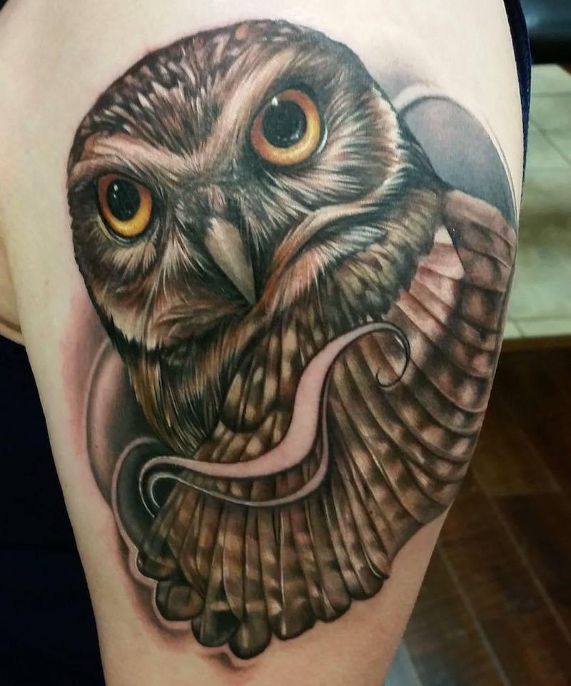 Owl Tattoo by Sarah Miller