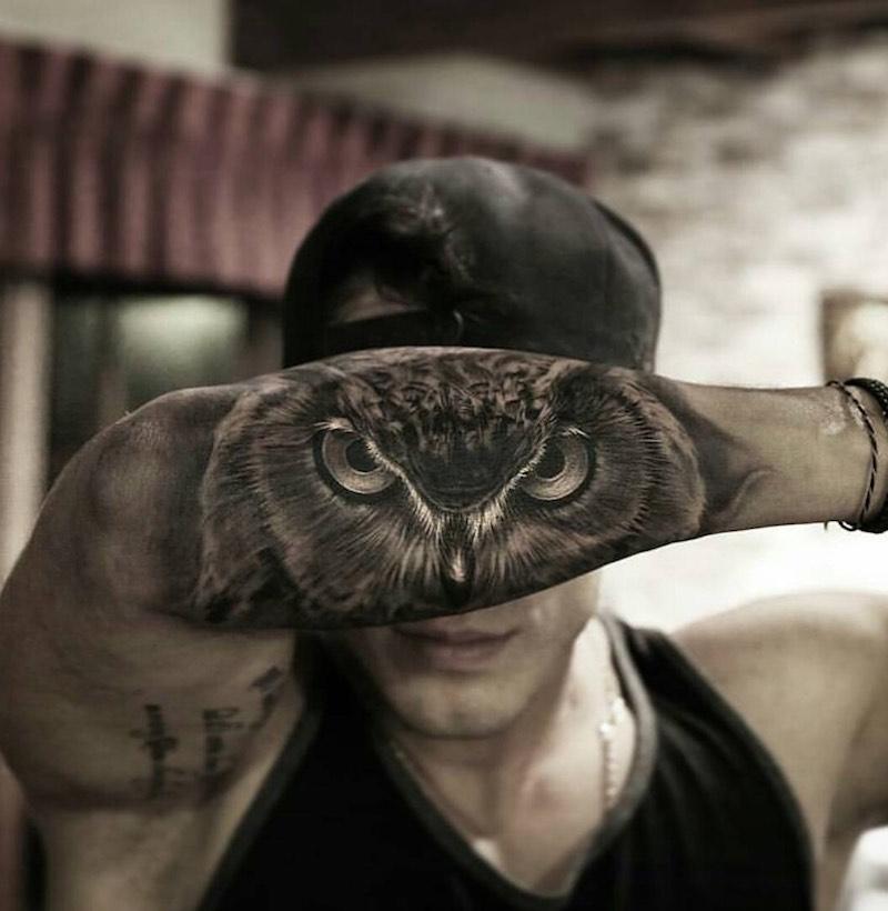 Owl Tattoo by Stefano Alcantara