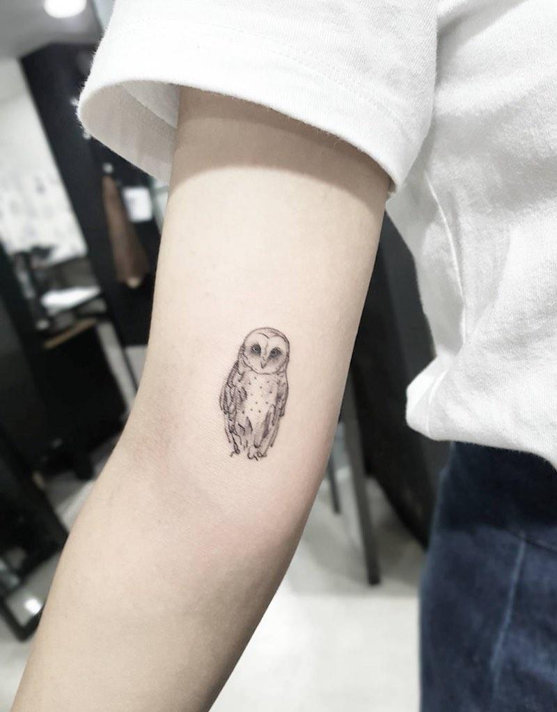 Owl Tattoo by Tattooist Sodam