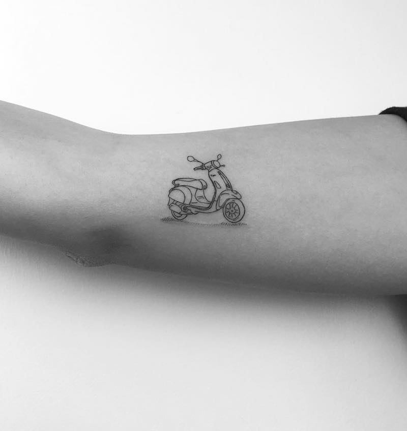 Scooter Small Tattoo by Cagri Durmaz