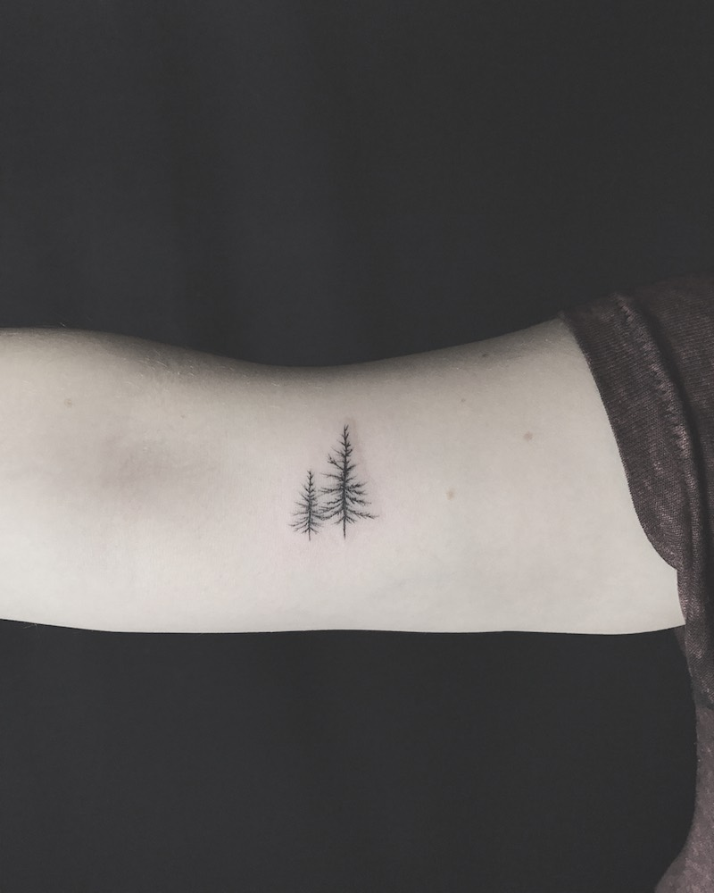 Tree Small Tattoo by Joe Turner