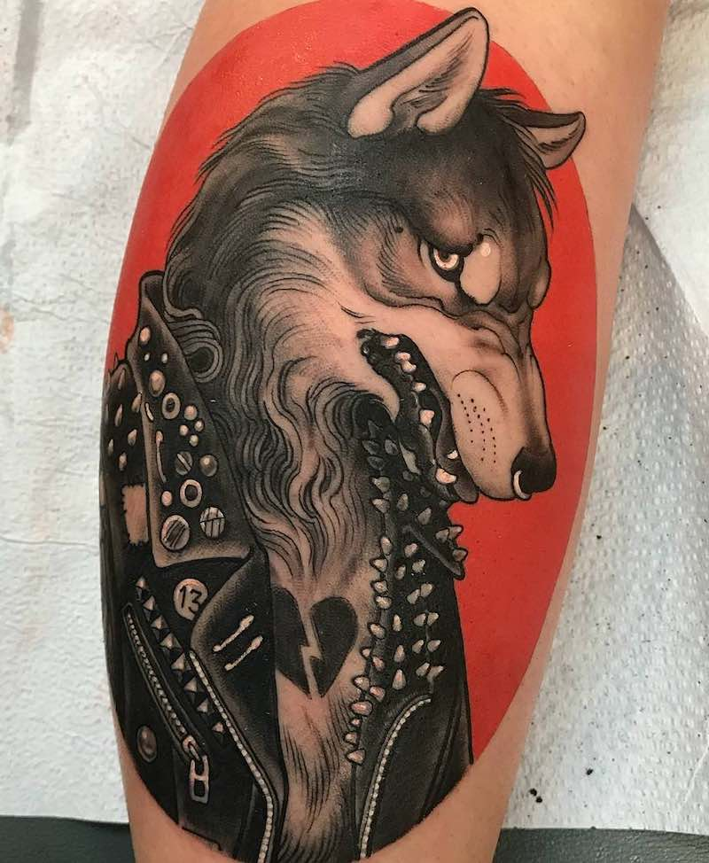 Wolf Tattoo by Chad Lenjer