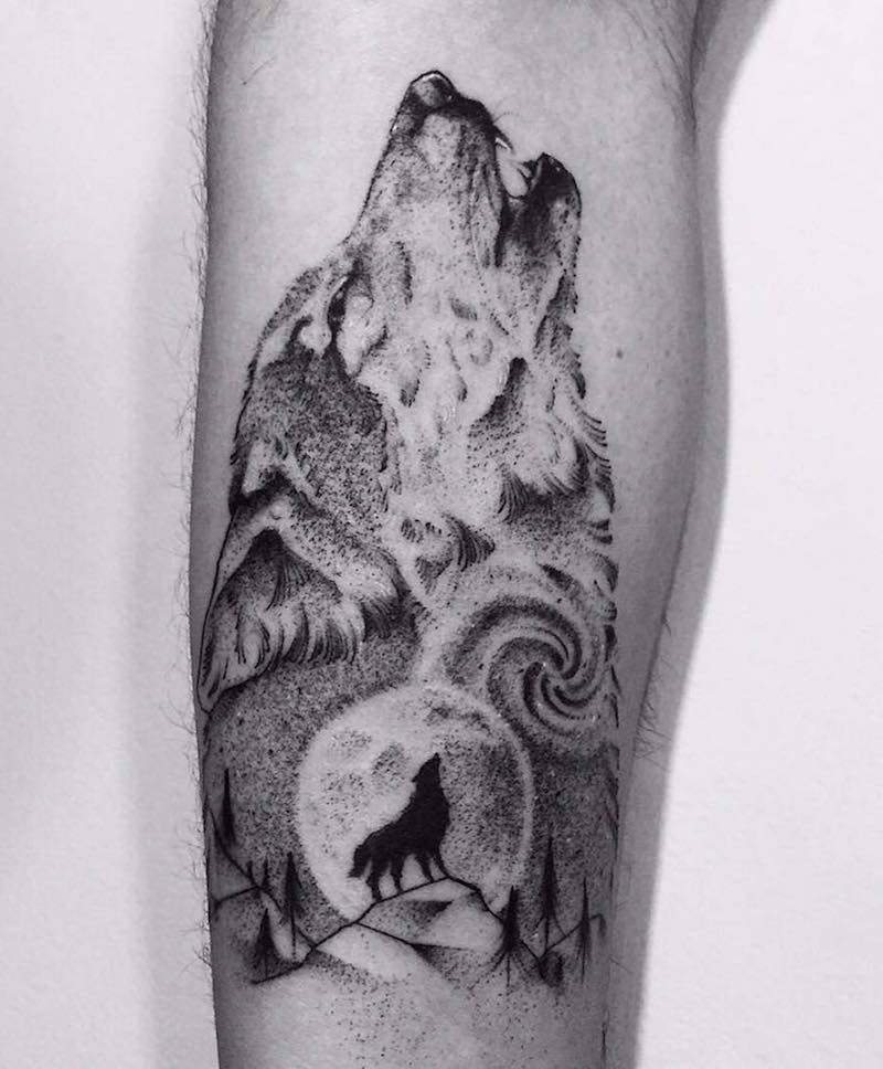 Wolf Tattoo by Chew