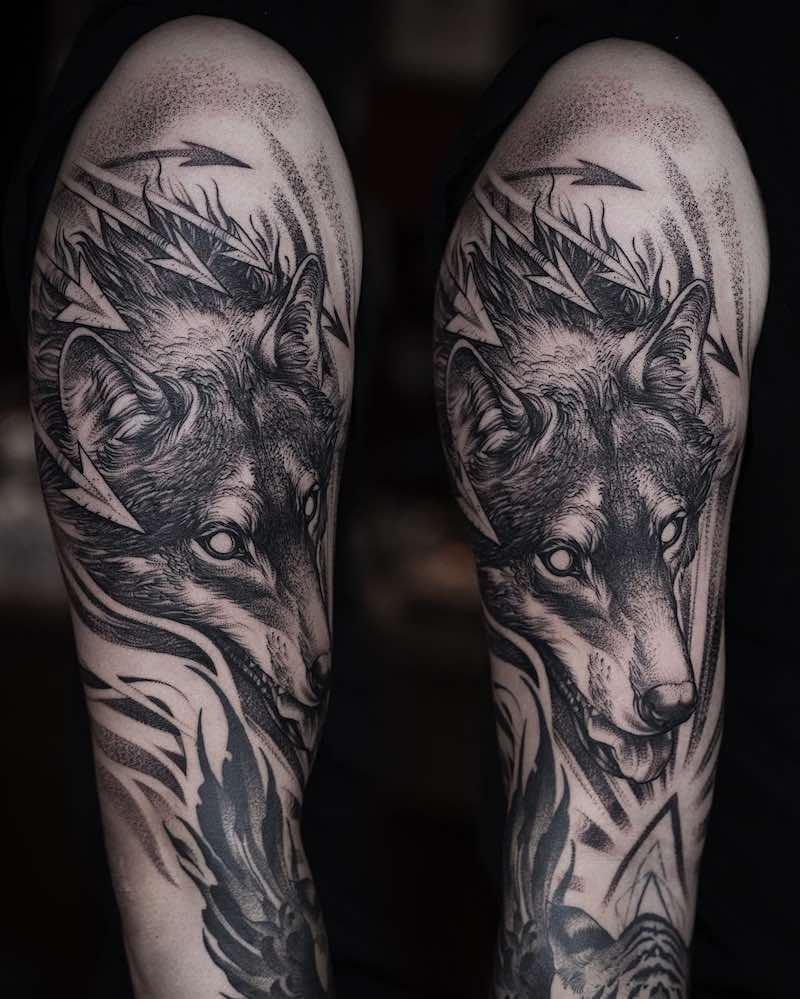Wolf Tattoo by Daniel Baczewski