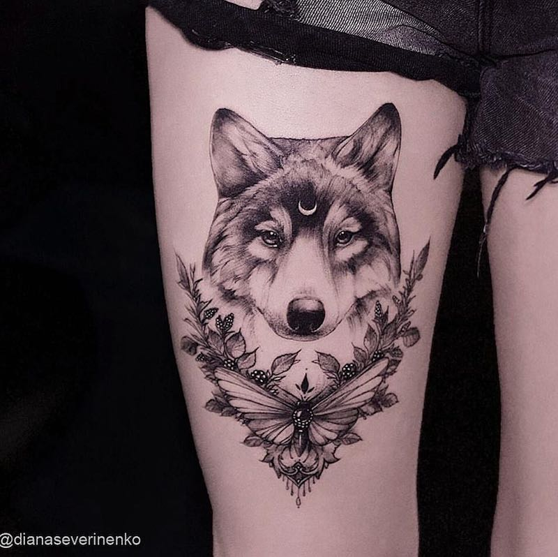 Wolf Tattoo by Diana Severinenko
