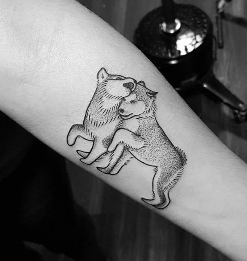 Wolf Tattoo by Ed Zlotin