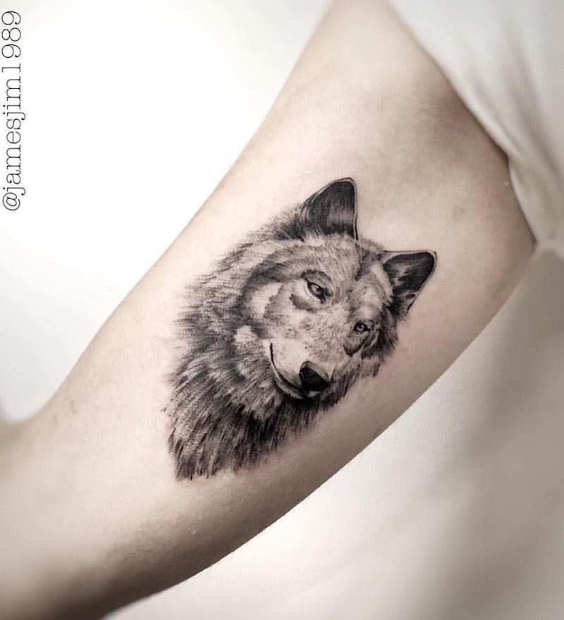 Wolf Tattoo by James Almeida