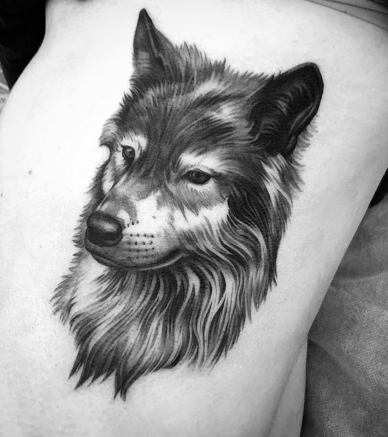Wolf Tattoo by Jimi May