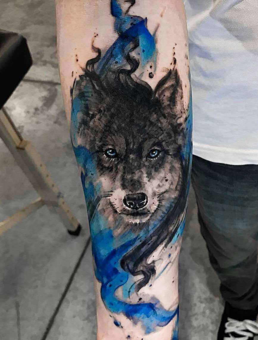 Wolf Tattoo by John Needle