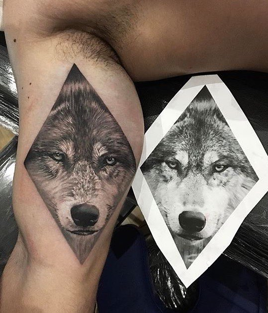 Wolf Tattoo by Kevin Breno