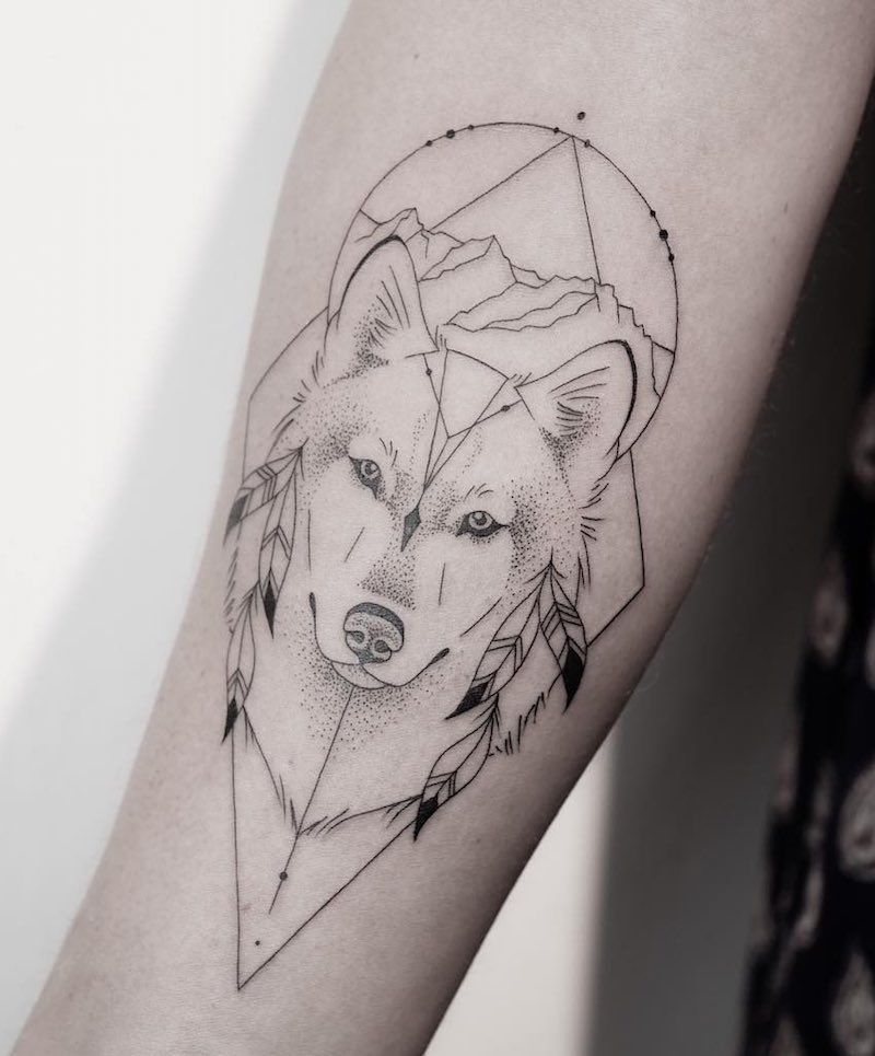 Wolf Tattoo by Melina Wendlandt