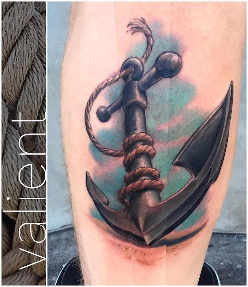 Anchor Tattoo by Damien Valient
