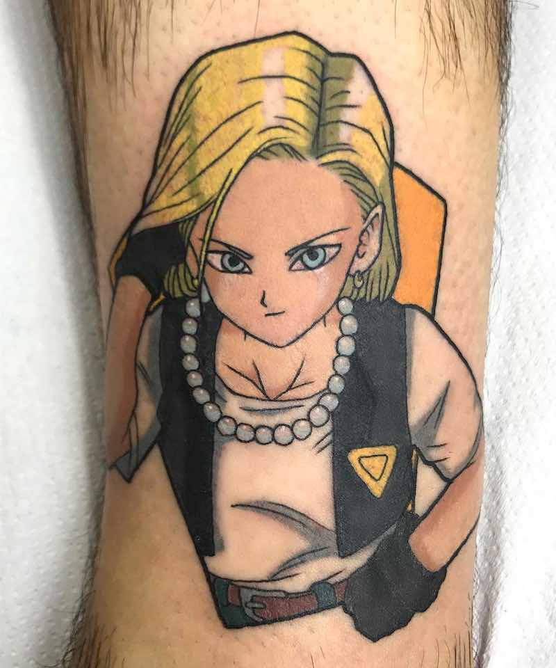 Android 18 Tattoo by Raquel Escudero