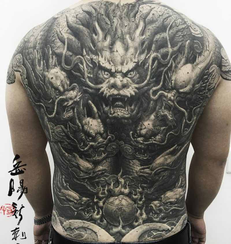 Back Dragon Tattoo by Heng Yue