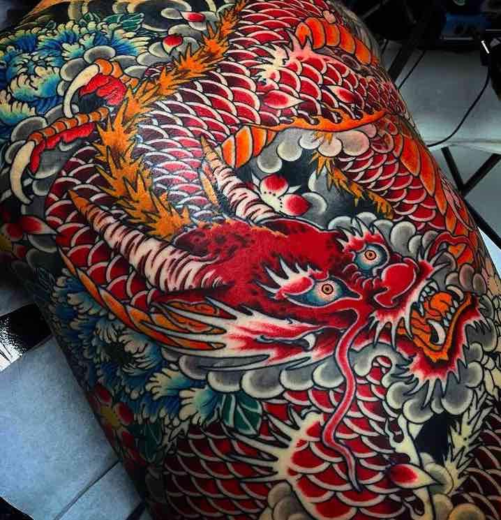 Back Dragon Tattoo by Stewart Robson