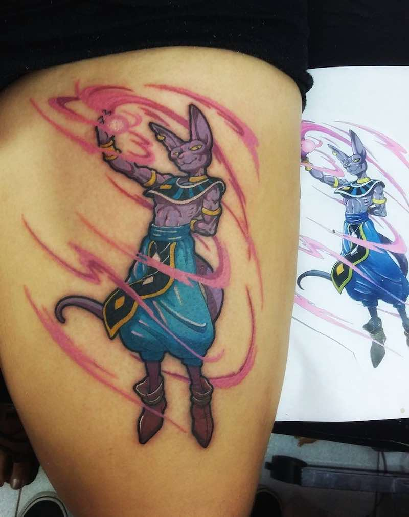 Beerus Tattoo by Yohn Jaramillo